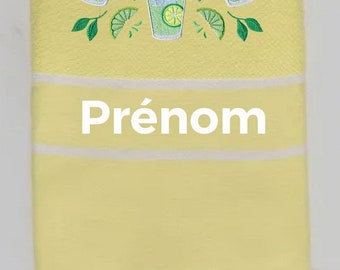 Fouta embroidered rafters mojito pattern