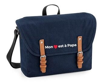 Embroidered sea canvas satchel / purse