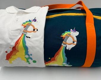 Bag duffel and unicorn polo