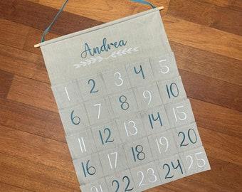 Customizable Advent Calendar to complete