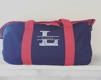 Custom embroidered polochon sports bag