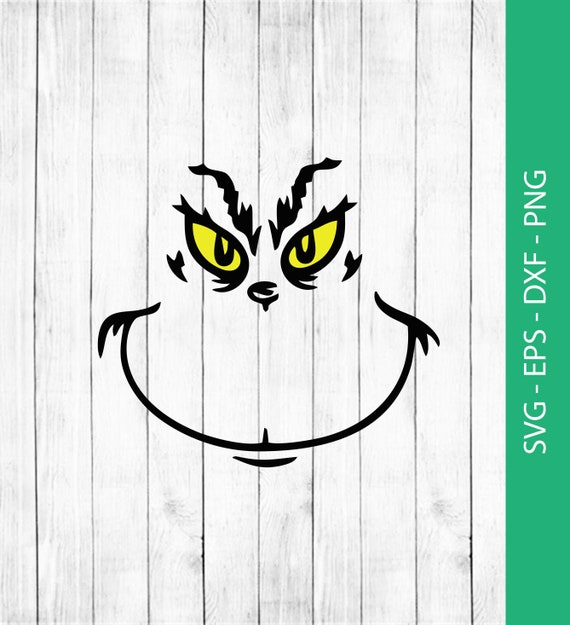 Grinch Svg Grinch Face Svg Png Eps Dxf Grinch Clipart Etsy