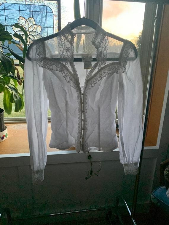 Vintage 1970s Gunne Sax blouse