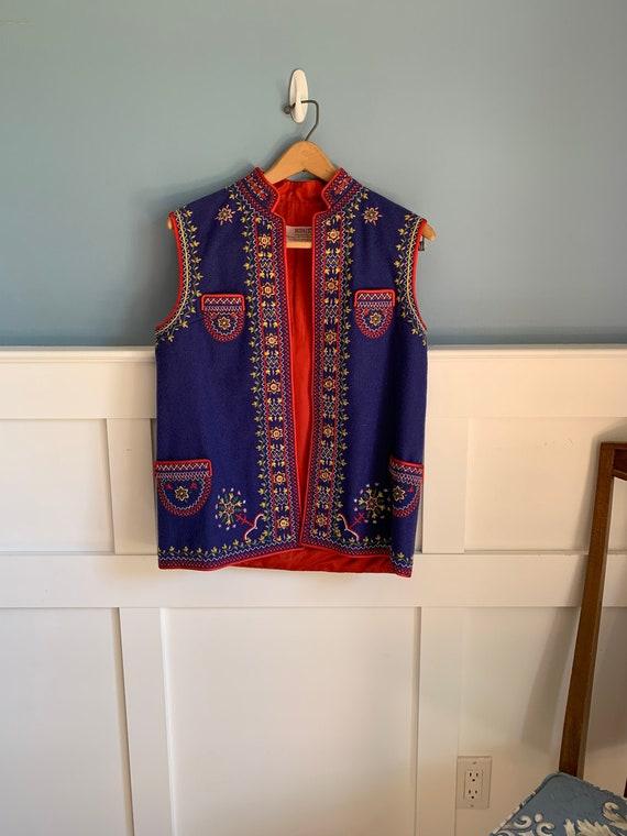 Vintage traditional polish embroidered vest