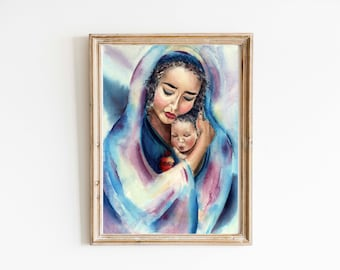 """5x7"""" print Our Lady, refuge of the Vulnerable print 