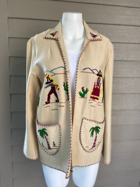 Fabulous Vintage 1950's Mexican Wool Jacket