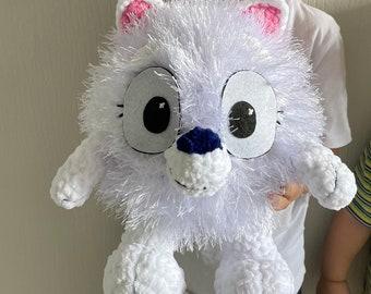 Stuffed Animal Pom Pom, plush toy Pom Pom bluey amigurumi handmade, gift for kids