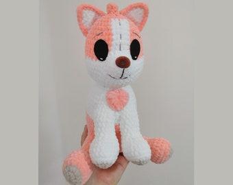 Stuffed Animal Polly Puppy, amigurumi toy bluey, gift for kids, gift birthday, crochet toy dog