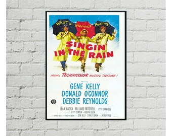 Singin/' in the Rain Classic Movie Large Poster Art Print Maxi A1 A2 A3 A4