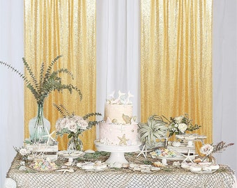 4FTX7FT Wedding Sequin Backdrop Sparkly Background Party Sequin Curtain Backdrop Zdada Gold Photo Sequin Backdrop