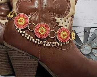 Cowgirl Boot Bling Elegant Boot Bracelets Boho Forget Me Not Boot Jewelry Boot Bling Cowgirl Boot Bracelets Western Boot Accessories