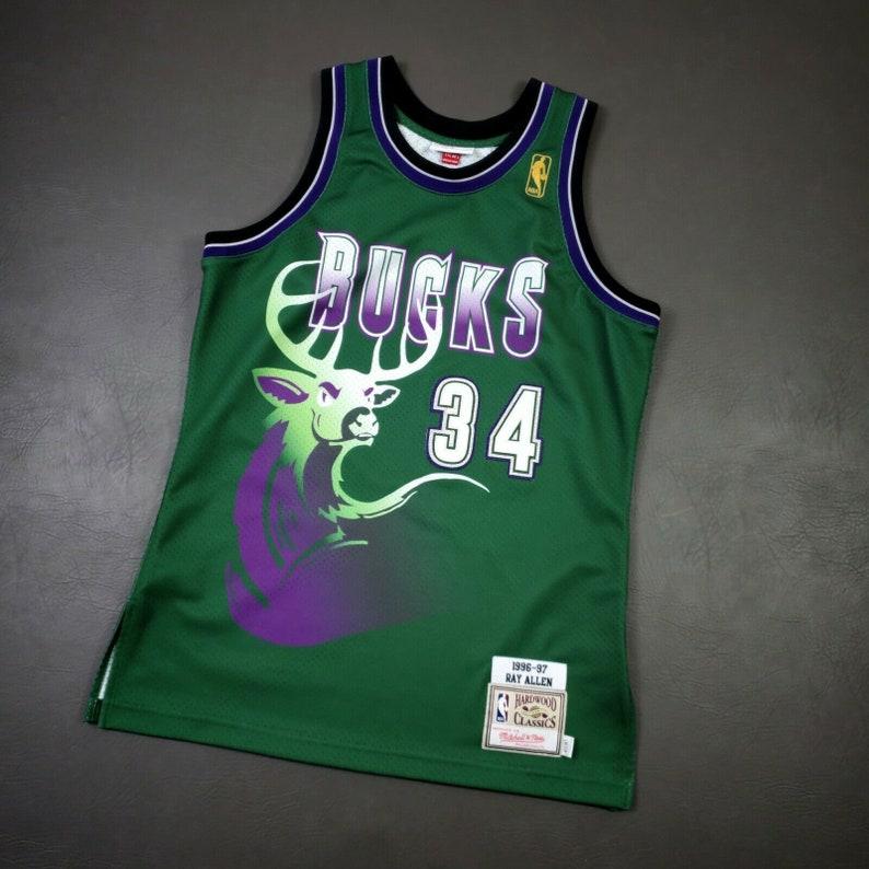 Vintage Men's #34 Ray Allen Jersey 1996-1997 Bucks Jersey