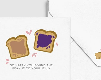 Toast PB&J Marriage Wedding Love Card - Funny Love Greeting Card