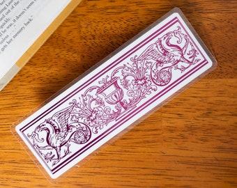Griffin Bookmark   Mythological Vintage Illustration   Architecture Details Foil Art