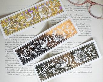 Bird & Acorn Bookmark   Custom Foil Bookmark