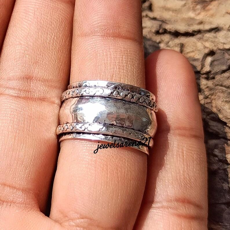 925 Silver Ring Spinner Ring For Women Spinner Ring Sterling Silver,Spinner Meditation Ring,Spinner Ring,Fidget Ring Spinner Ring For Men