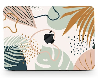 Abstract Face Line Modern Art Painting Macbook Hard Case for Macbook Air 1113 Pro 131516 2008-2020 Custom Personalized Macbook Cover