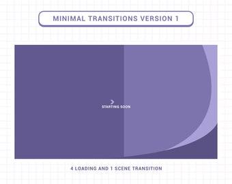 Pastel Purple Minimal Twitch Stream Transitions