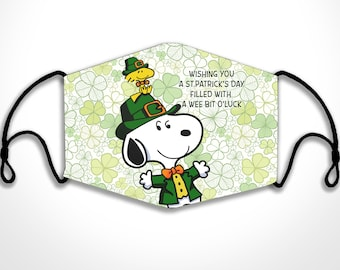 Snoopy and Woodstock St.Patrick\u2019s Day BadgeID Holder with Charms
