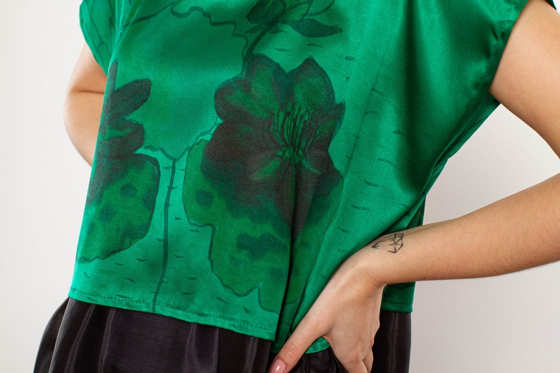 Silk blouse hand decorated