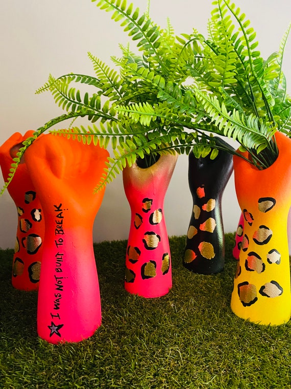 Girl Power Hand Vase - various options  - free postage
