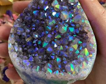 Amethyst Aura Angel Aura Amethyst Crystal Cluster Geode