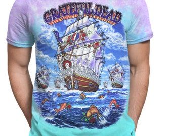 Ship Of Fools Tie-Dye Polyester T-Shirt