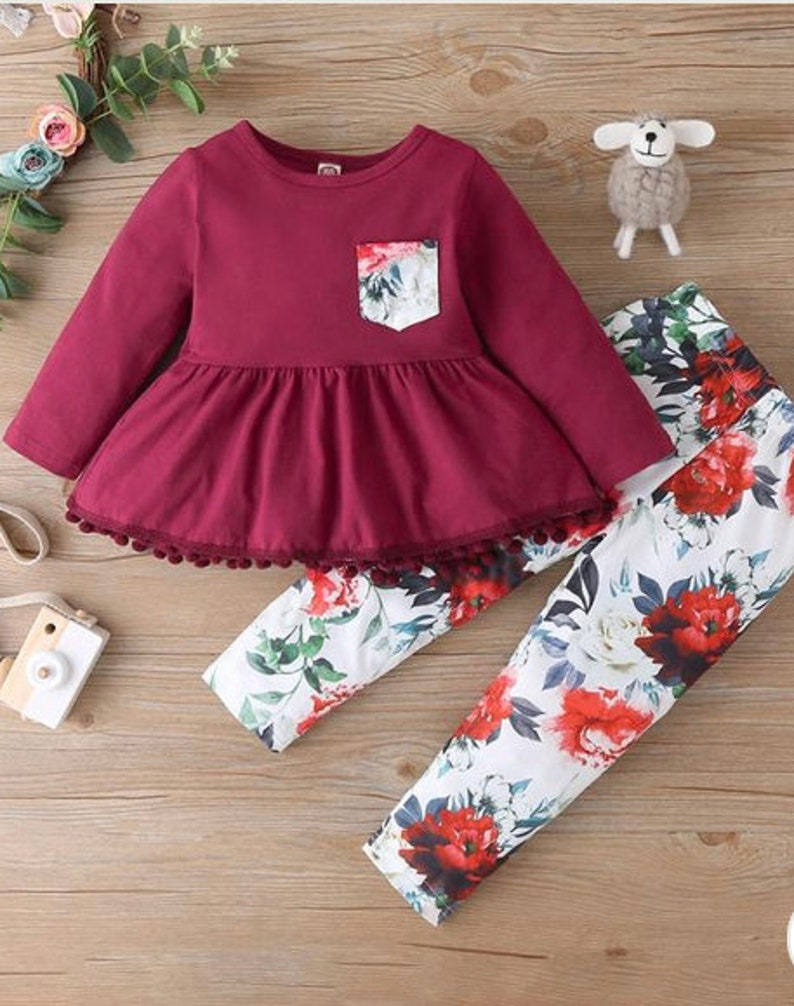 Girls outfit set ages 2-3y