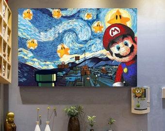 Mario Room Decor Etsy