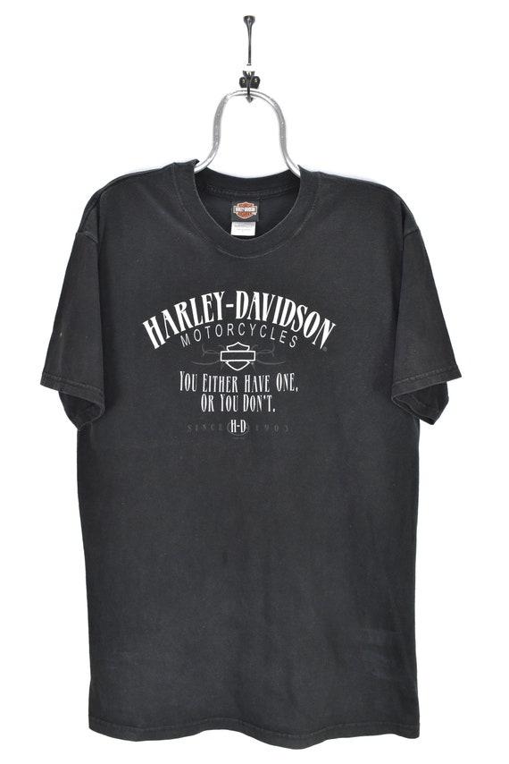 VINTAGE HARLEY DAVIDSON black t-shirt   large
