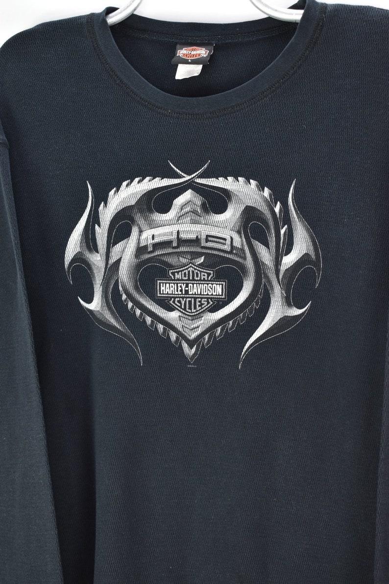 VINTAGE HARLEY DAVIDSON long sleeve black t-shirt large