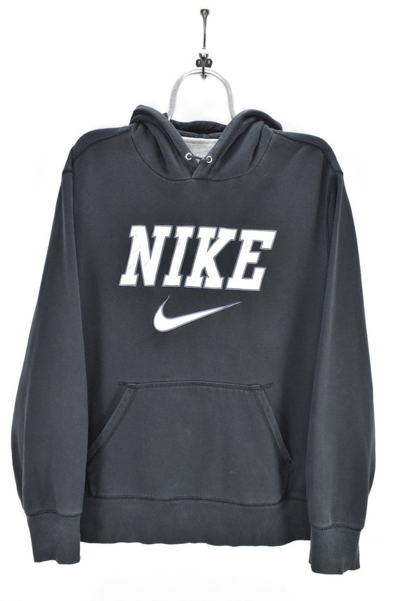 VINTAGE NIKE SPELLOUT embroidered black hoodie | x