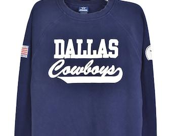 Vintage NFL Dallas Cowboys Embroidered navy sweatshirt   Large
