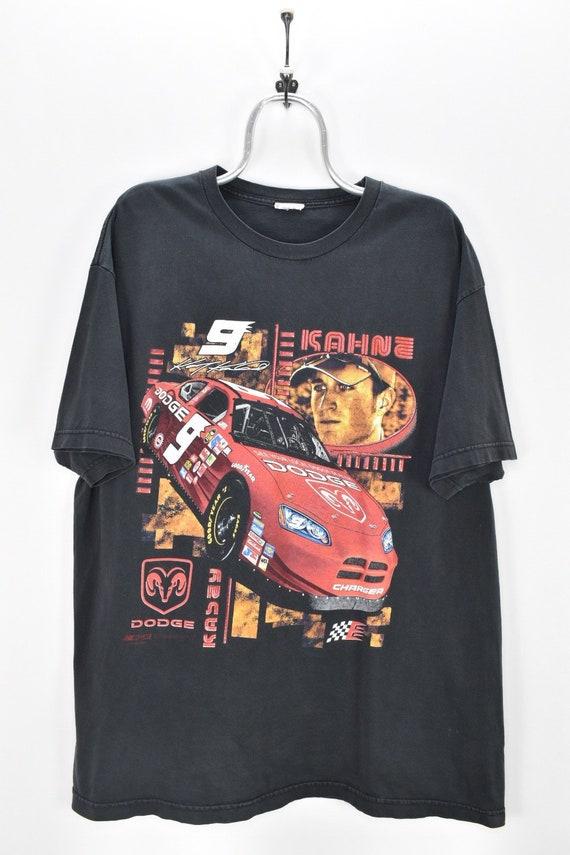 VINTAGE NASCAR BLACK t-shirt | xl