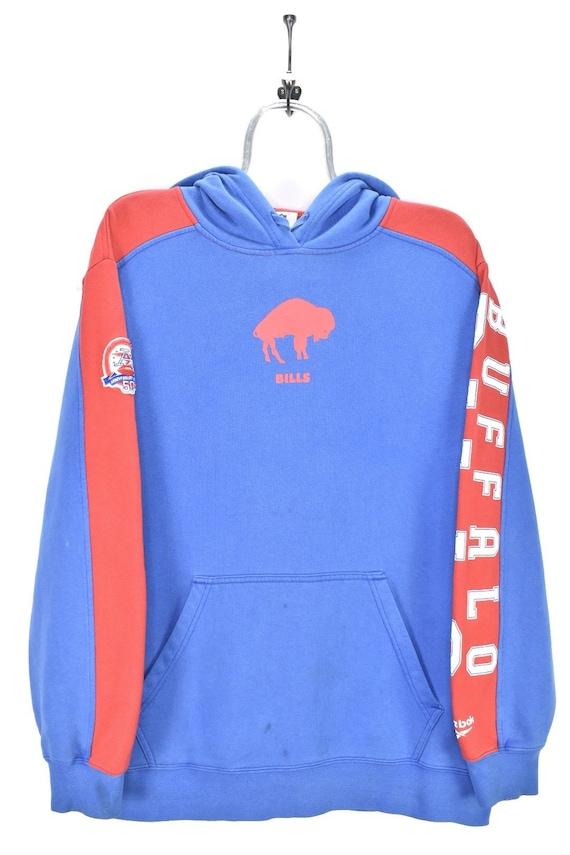 VINTAGE NFL BUFFALO bills blue hoodie | large
