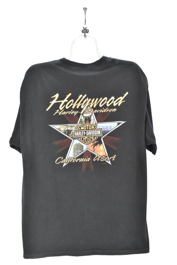 VINTAGE HARLEY DAVIDSON black t-shirt | xl
