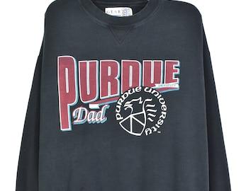 VINTAGE PURDUE UNIVERSITY black sweatshirt   xl