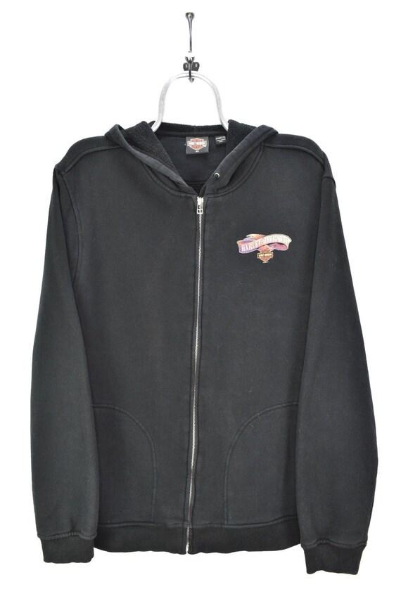 VINTAGE HARLEY DAVIDSON black hoodie | xxl