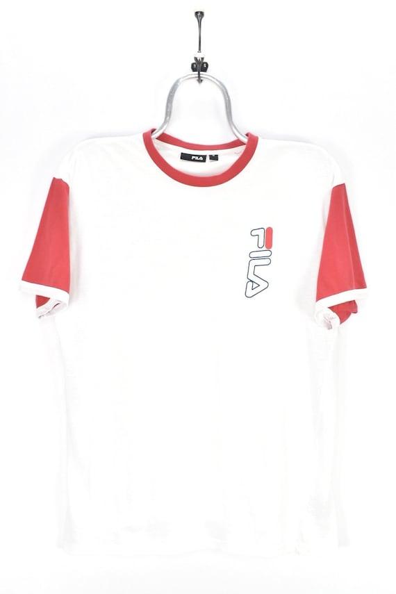 VINTAGE WOMENS FILA white t-shirt | medium