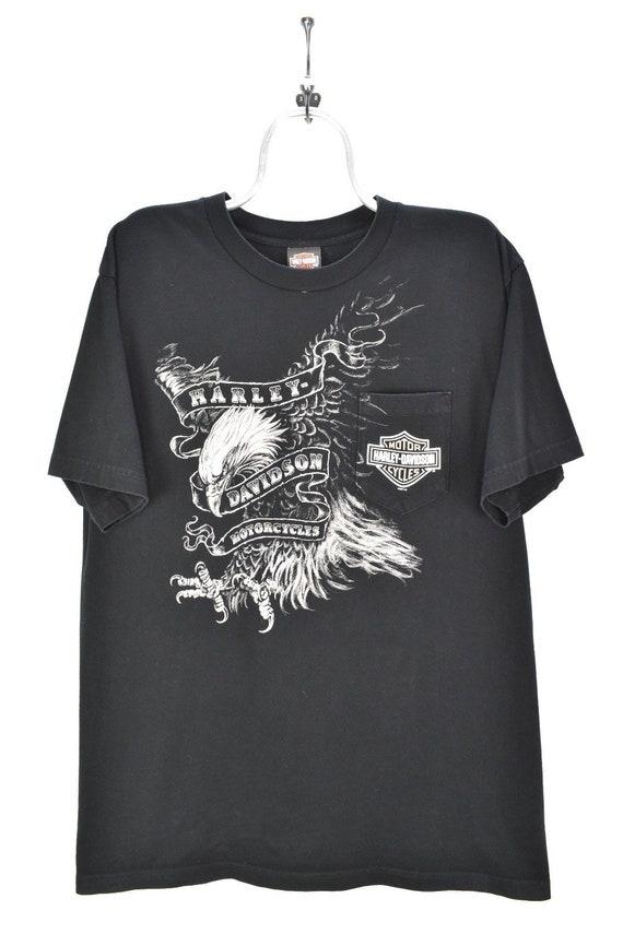 VINTAGE HARLEY DAVIDSON black t-shirt   xl