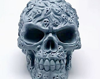 3D ghost skull silicone mold, candle plaster silicone mold, cake mold, chocolate mold, decoration tools