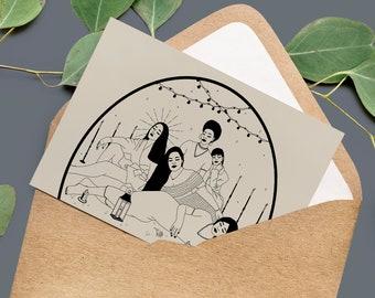 A6 Greeting Card Set Feminine Art • Three Feminist Cards • Penpal • Girl Power Mail • Present Gift Woman Women •  Eco friendly packaging