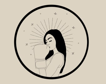 Strong woman illustration poster • A4 Female Empowerment Art Print • Woman Drawing • Feminist feminism Art • Female Artist • Wall Decor