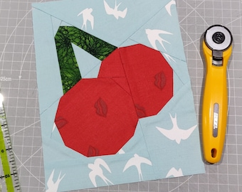 Jelly Cherries Block - The Jelly Sweet Collection - 3 sizes - FFP Sewing Pattern