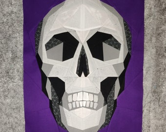 """Fractured Skull Panel 16""""x 20"""" - Foundation Paper Piecing Pattern"""