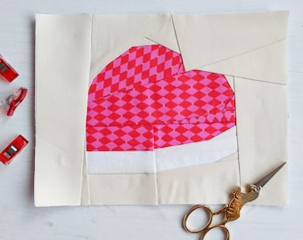 Jelly Heart Block - The Jelly Sweet Collection - 3 sizes - FFP Sewing Pattern