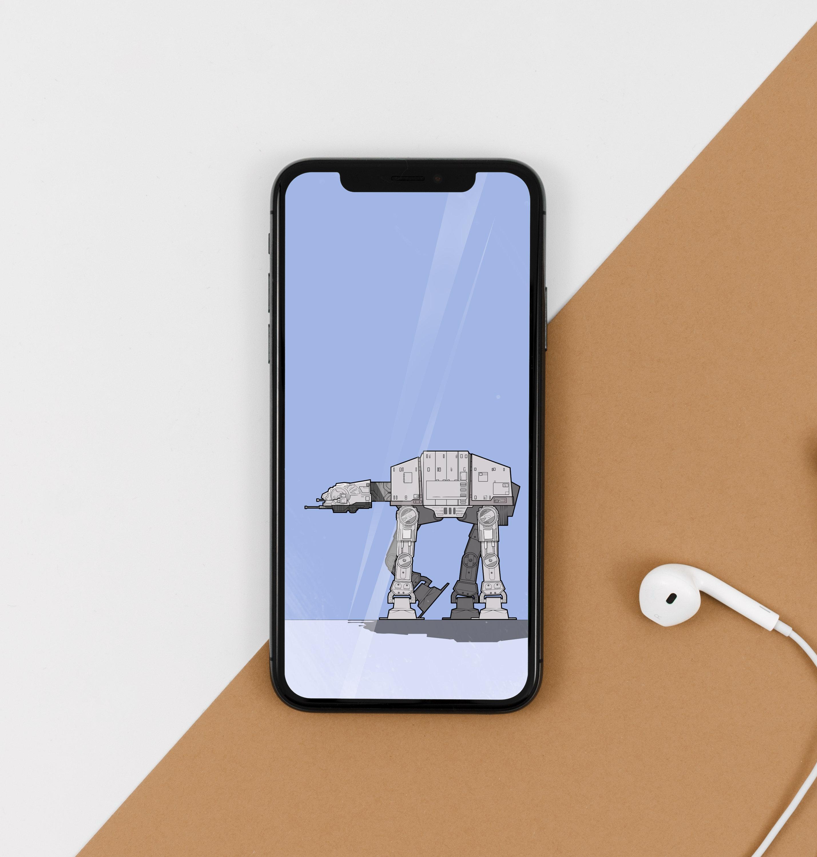 Star Wars At At Phone Wallpaper Etsy