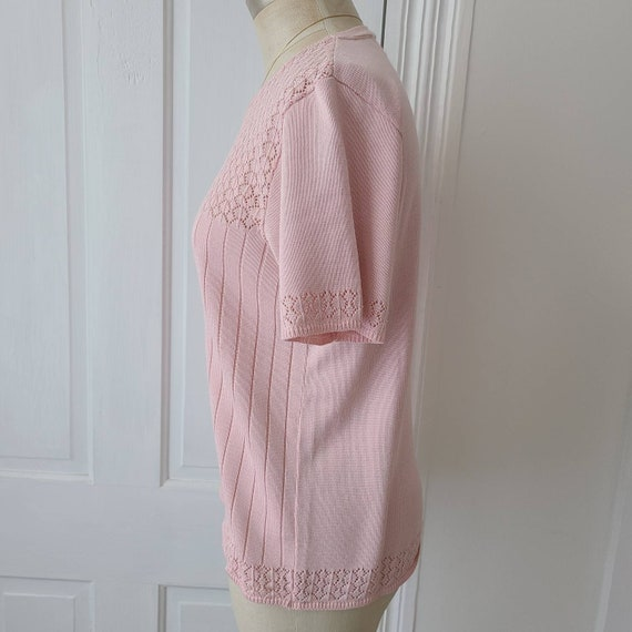 Vintage 90s dusty pink knit top - image 6