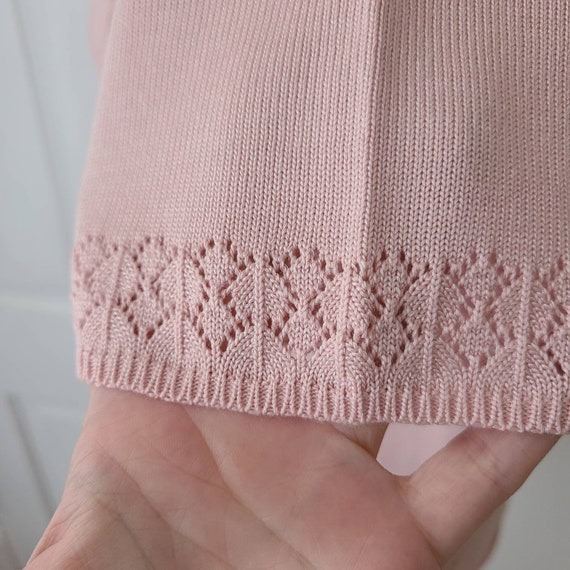 Vintage 90s dusty pink knit top - image 3