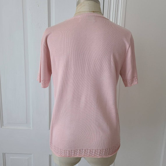 Vintage 90s dusty pink knit top - image 7